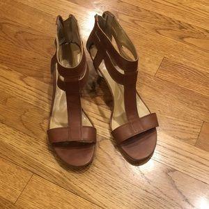 Nine West leather heeled sandal